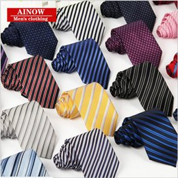 Tie Thread Canada - Tie Men Business casual career tie polyester thread arrow jacquard stripe tie manufacturers wholesale father Boy friend Husband gift