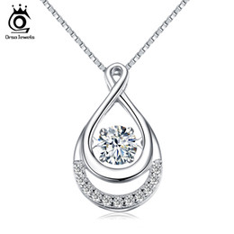 $enCountryForm.capitalKeyWord Canada - ORSA JEWELS Solid 925 Silver Women Necklaces Double Infinity Pedants with Movable Crystal Eternity Jewelry SN50