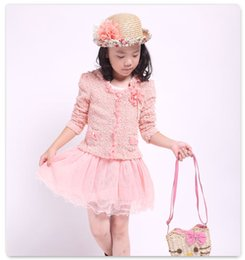 $enCountryForm.capitalKeyWord NZ - Spring Autumn Girls Long Sleeve Dress Coats Fashion New Lace Overskirt Petticoat Outwears Jackets Kid Clothing