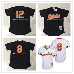 f93d84d34 ... Mens Baltimore Orioles 8 Cal Ripken Jr Jerseys 12 Roberto Alomar Jerseys  100% Stitched Mitchell ...