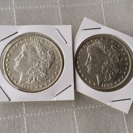 two face coin UK - Morgan 1889 Two Face Coin interesting magic Coins Gifts home Accessories Silver Coins