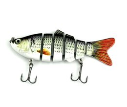 Swimbait Crankbait Hard Bait Canada - Free Shipping Lifelike Fishing Lure 6 Segment Swimbait Crankbait Hard Bait 10cm 18g Artifical Lures Fishing Tackle