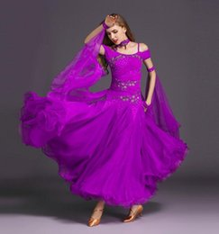 Performance De La Danse Pas Cher-Robes Pour Ballroom Dancing Standard 9 Couleurs Jupes Ballroom Sexe Stage Costume Performance Womens Ballroom Dance Wear Dress Nouvelle Arrivée