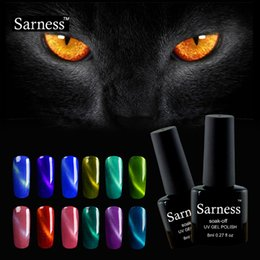 Laca De Gel Barato Baratos-Venta al por mayor-sarness marca Soak Off magnético 3D Cat Eye Gel Polaco UV LED superior Base Coat Lacquer Gel Vanish Professional nail art barato gel