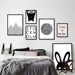 Word Art Canvas Prints NZ - Minimalist Black White Art words Poster Prints Vintage Animal Picture Canvas Painting No Frame Nordic Home Decor Wall Art Gifts