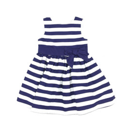 China Baby Girl Clothes Princess Dresses Sleeveless Striped Cotton Bow Tutu Skirt High Quality Brand Children Clothing suppliers