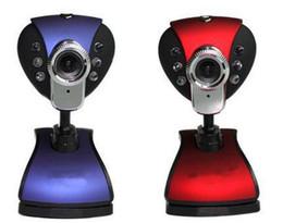 $enCountryForm.capitalKeyWord NZ - Hot USB 2.0 10mega pixel 6 LED PC Camera HD Webcam Web Cam with MIC The Cheap Webcams From China Free Shipping