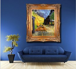 16x24 painting Australia - impression landscape Van cafe at night scenery canvas printings oil painting printed on canvas home wall art decoration pictures