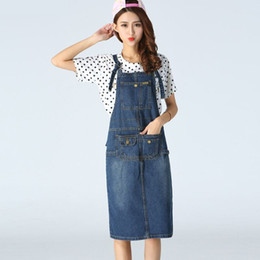 1909b285dac New 2016 Summer Fashion Preppy Long Suspender Skirt Denim Pocket Jeans  Jumpsuit Overall Women