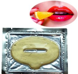 Wholesale Collagen Crystal Protein gold Lip Mask Moisturizing Lip Film Crystal Collagen wrinkle reducing lip enhancement