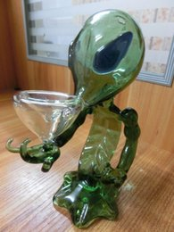 $enCountryForm.capitalKeyWord NZ - Alien Glass Pipes Glass Smoking Pipe Glass Water Pipes 18cm Height Green G Spot Smoking Pipes