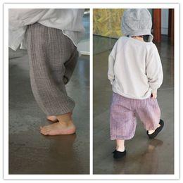 Wholesale Price Leggings NZ - baby girl summer capris pants Cotton wide leg calf-length fashion pants harem bottoms for kids girl children clothes cheap price wholesale