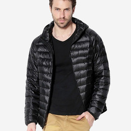 China Wholesale- Winter Jacket Men Solid Breathable Duck Down Jacket Mens Coats Parka hombre Plus Size 3XL Fashion Design Brand Clothing supplier yellow duck clothes suppliers