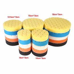 car polishing sponge 2019 - Wholesale- Car-Styling 5pcs Car Sponge Buffing Sponge Polishing Wash Pad Hand Tool Kit For Car Polisher Wax Diagnostic-T