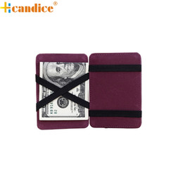 China Wholesale- Hcandice Best Gift Mini Neutral Grind Magic Bifold Leather Wallet Card Holder Wallet Purse Dec23 supplier magic wallets suppliers