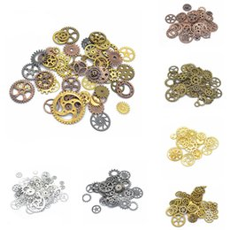 steampunk jewelry making 2019 - 100g pcVintage Metal Mixed Gears Charms for Jewelry Making Diy Steampunk Gears Pendant Charms Diy Accessories Wholesale