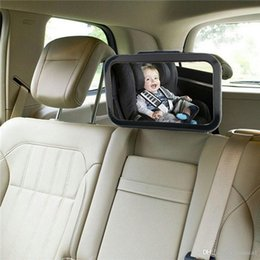 Baby View Mirror Car NZ - Adjustable Car Back Seat Mirror Baby Facing Rear Ward View Headrest Mount Mirror Square Safety Baby Kids Monitor colorful bag