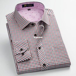 $enCountryForm.capitalKeyWord Canada - Wholesale- Men's Classic Design Plaid Casual Shirts Leisure Style Patchwork Anti Wrinkle Shirts New Arrival Brand Men's Boutique Clothes