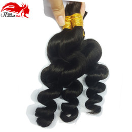 Sales Human Bulk Hair Canada - Top Sale Indian Humanmini Braiding Hair 7A Loose Wave Hair Bulk For Braiding Indian Human Hair Mixed Length Buy 3Lot Get 1Pcs Free
