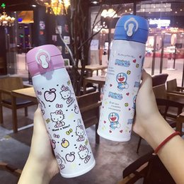 $enCountryForm.capitalKeyWord NZ - Lovely Keep-Warm Glass Cover Children's Creative Cartoon Cup Custom Practical Gifts Stainless Steel Cup Water Bottle