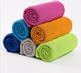 $enCountryForm.capitalKeyWord Canada - 2017 Double Layer Ice Cooling Towels Sports Icy Chilling Towel Outdoor & Indoor Gym Yoga Activities Reusable For Sports