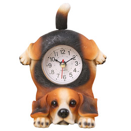 Wholesale Modern Children Birthday Gifts Cute Resin Desk Clock Without Battery Creative Animal Decoration Dog And Cat Ornaments