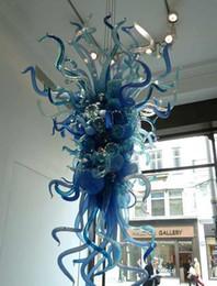 $enCountryForm.capitalKeyWord NZ - Blue Beautiful Pendant Chandelier Light Fixture Dale Italy Chihuly Art Hanging Lamp 100% Handmade Crystal Light