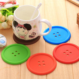 $enCountryForm.capitalKeyWord NZ - Silicone Coffee Placemat Button Coaster Cup Mug Glass Beverage Holder Pad Mat 5 colors DHL Free Shipping