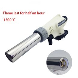 Discount kitchen flame torch - 1300C Refillable Butane Master Torch Windproof jet flame lighter Multy Purpose Lighter BBQ kitchen Culinary Gas torch
