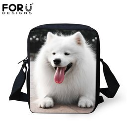 $enCountryForm.capitalKeyWord Canada - Wholesale- Husky Printed Women Girls White Messenger Bags Canvas Lovely Small Crossbody Travel Bags for Women Girls Handbags High Quality
