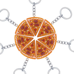 1PCS Pizza Pendant Keychain Keyring Creative Food Pizza Keychains Best  Friend Forever Key Chain For Men Women Family Friendship Jewelry Gift bbcec5fe6a