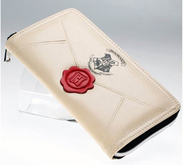 Venta al por mayor de Letra de Harry Potter con cremallera alrededor de la carpeta de la pu de la manera larga de las mujeres carteras marca del diseñador del monedero de señora Party Wallet titular de la tarjeta femenina