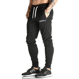 Barato Calças Fitness Harem-2017 Men's Muscle Brother Crossfit Calças de compressão Jogger Pants Man Workout Pantalon Homme Harem Sweatpants Fitness Clothing