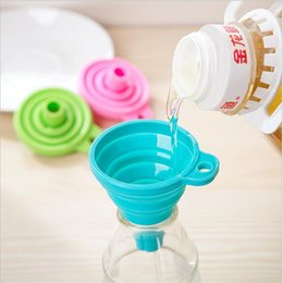$enCountryForm.capitalKeyWord Canada - Mini Silicone Gel Foldable Funnel Collapsible Style Telescopic Hopper Kitchen Cooking Tools