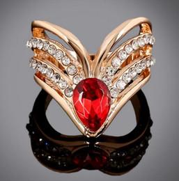 discount western wedding rings for women b262 western style the new fashion popular rhinestones ruby rose - Western Style Wedding Rings