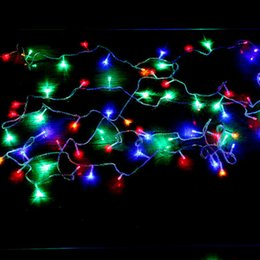 Red White Dresses Australia - Children party dress wedding room decoration outdoor waterproof star light string LED color flat head flashing lights