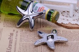 FREE SHIPPING By DHLFEDEXUPS50pcs Lot Silver Finish Starfish Design Bottle Opener Beach Wedding Favors Party Giveaway