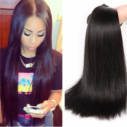 striaght hair UK - Silky Striaght Hair 3 Bundles 100% Human Unprocess 8A Grade Straight Weave Bundles Brazilian Human Hair Straight Hair Extensions