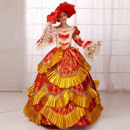 medieval dress ball Australia - Rococo Marie Antoinette Dress Medieval Renaissance Ball Gowns 2017 Stage Photography Show Dresses Histerical Women Lace Dress Vestido FN216