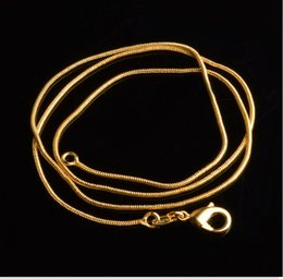 $enCountryForm.capitalKeyWord Canada - Wholesale Plating 18K Gold Necklaces without stimulation Vietnam sand Non fading chains (16,18,20,22,24,26,28) inch 1 mm Necklaces