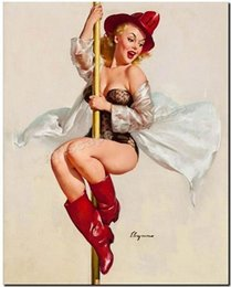 $enCountryForm.capitalKeyWord Australia - Framed GIL ELVGREN Fire Fighter pole,Pure Handpainted Pinup Girl Art Oil Painting On Quality Canvas Multi Sizes Free Shipping Pin032