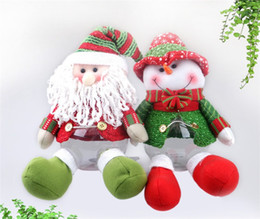 2017new cute santa claus snowman gift christmas candy jar christmas sugar bowl christmas item indoor decoration fd 33