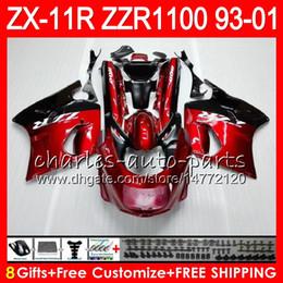 $enCountryForm.capitalKeyWord Canada - 8Gifts For KAWASAKI NINJA ZX11 ZX11R 93 01 94 95 96 97 ZZR 1100 22HM6 black red ZZR1100 ZX-11R ZX-11 1993 1994 1995 1996 1997 Fairing Kit