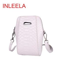 Plain Red Cell Phone Case Canada - Wholesale- INLEELA 2016 New Arrival Korean Cellphone Case Fashion Mini Shoulder Bag Fashion Hard Phone Bag Crocodile Style