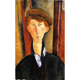 bedroom painting portraits Australia - abstract Portrait paintings by Amedeo Modigliani Young Man with Cap girls art for bedroom decor high quality