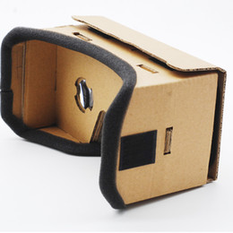 Iphone Virtual 3d Glasses Canada - DIY Google Cardboard 3d Glasses Virtual Reality Glasses Vr Box 3d Glass Private Theater For Iphone Android Smart Cellphone