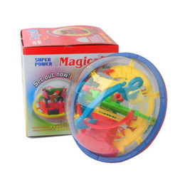 puzzle maze ball 2019 - Wholesale- 3D Magical Intellect Maze Ball Kids Amazing Balance Logic Ability Toys Learning & Educational IQ Trainer Game