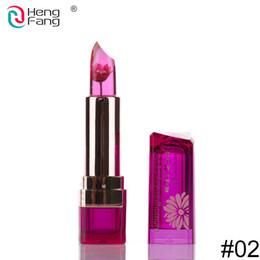 $enCountryForm.capitalKeyWord UK - Factory price HengFang Flower Lipstick Color Change on Temperature Food grade lipstick blackish chrysanthemum moisturizing