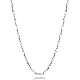 Slim Silver Chain Canada - Silver Plated 1MM Slim Seeds Chain Short Choker Necklace for Pendant Charms 45cm 40cm for Women Girls Best Gift