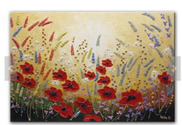 $enCountryForm.capitalKeyWord Canada - 100% hand draw abstract modern oil painting on canvas Beautiful Flower Painting